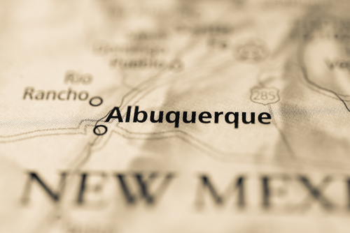 map showing albuquerque