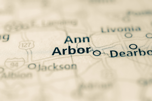 map showing ann arbor