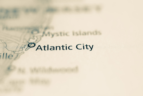 map showing atlantic city