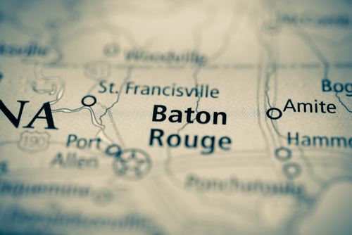 map showing baton rouge