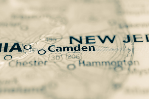map showing camden