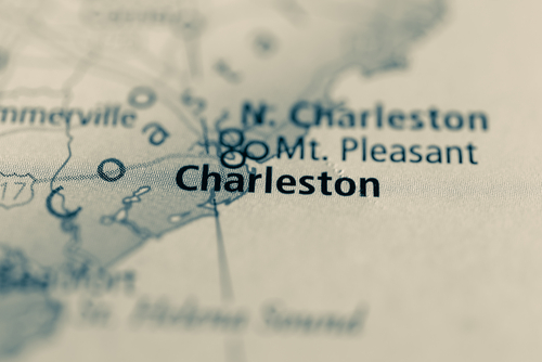 map showing charleston