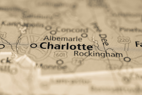map showing charlotte