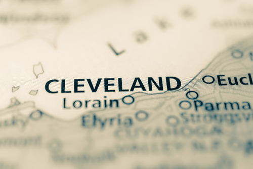 map showing cleveland