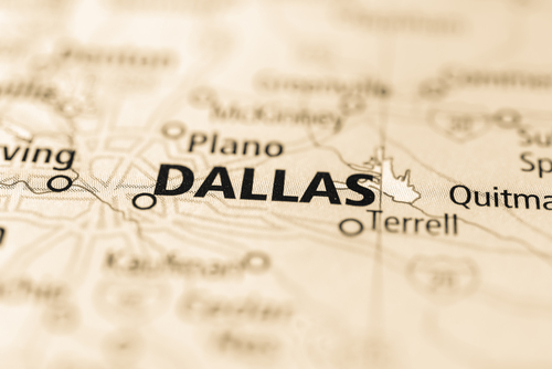 map showing dallas
