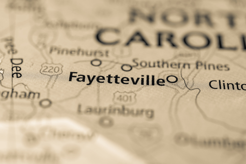 map showing fayetteville