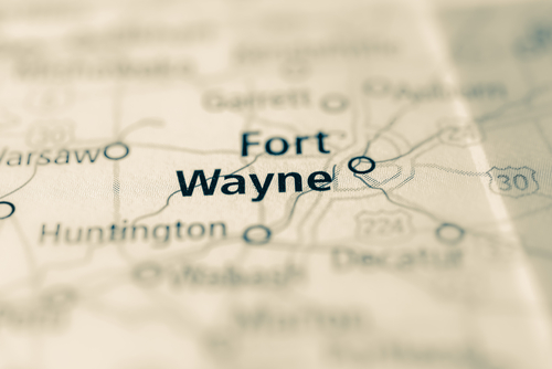 map showing fort wayne
