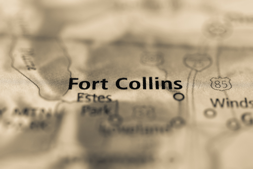 map showing fort collins