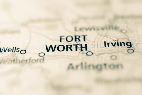 map showing forth worth