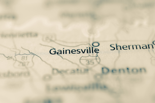 map showing gainesville