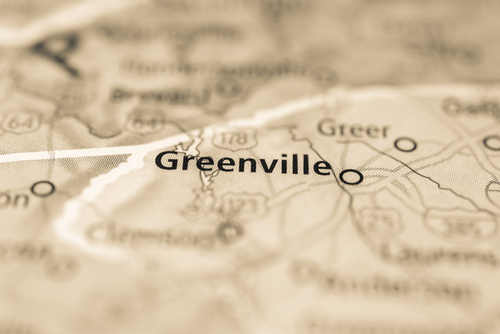 map showing greenville