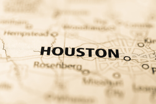 map showing houston