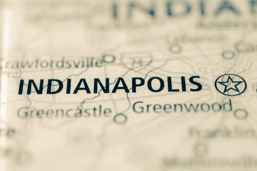 map showing indianapolis