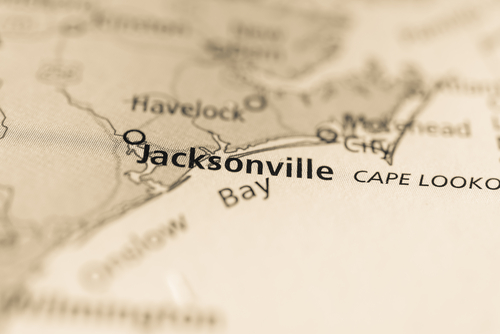 map showing jacksonville