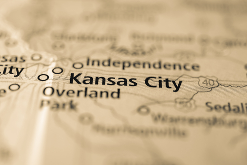 map showing kansas city