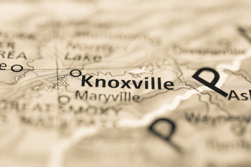 map showing knoxville