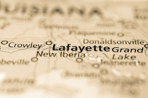 map showing lafayette