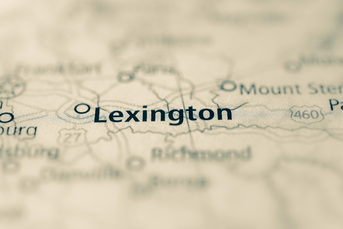 map showing lexington