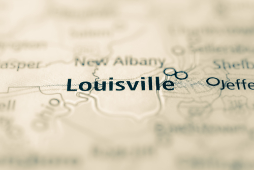 map showing louisville
