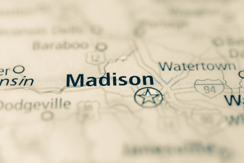 map showing Madison