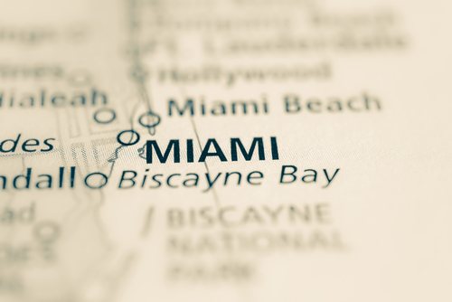 map showing miami