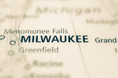 map showing milwaukee