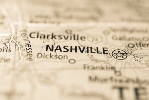 map showing nashville