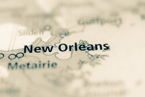 map showing New Orleans