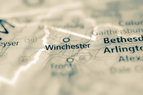map showing winchester