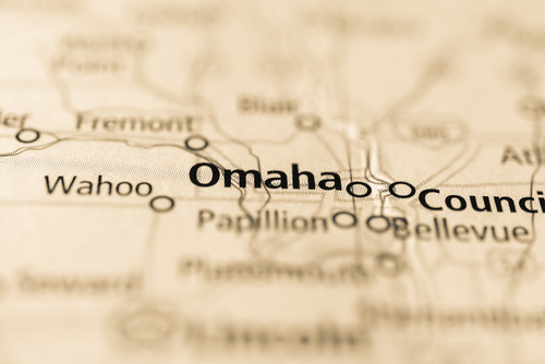 map showing omaha