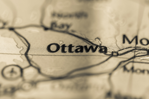 map showing ottawa