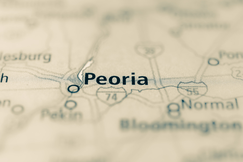 map showing Peoria