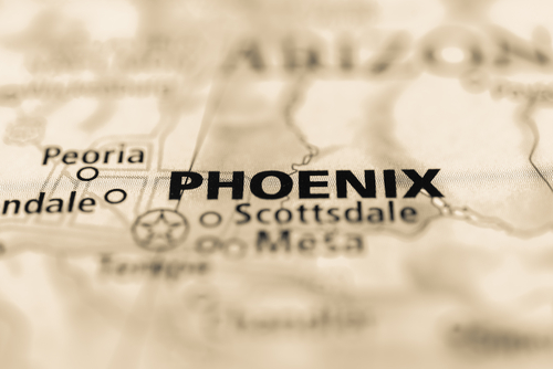map showing phoenix