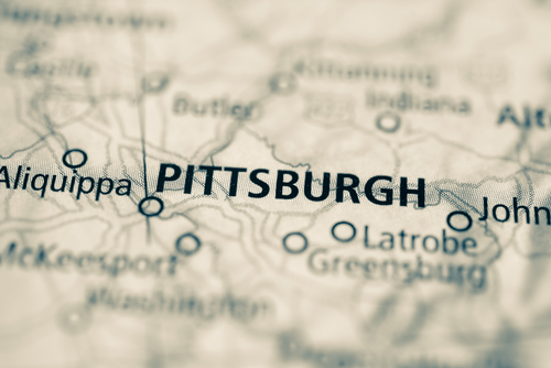 map showing pittsburgh