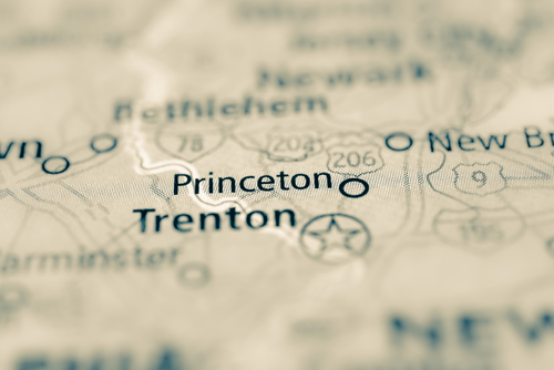 map showing princeton