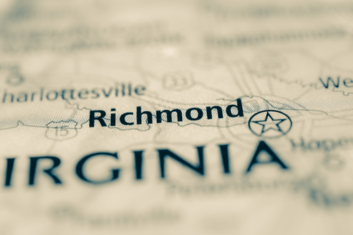 map showing richmond