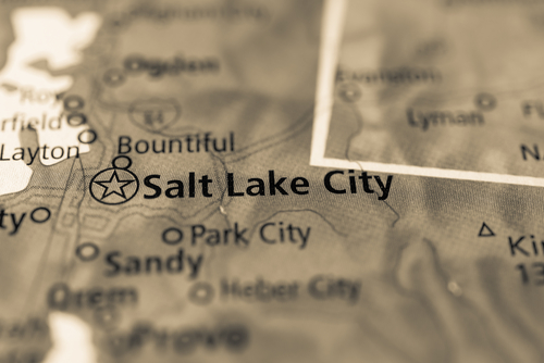 map showing salt lake city
