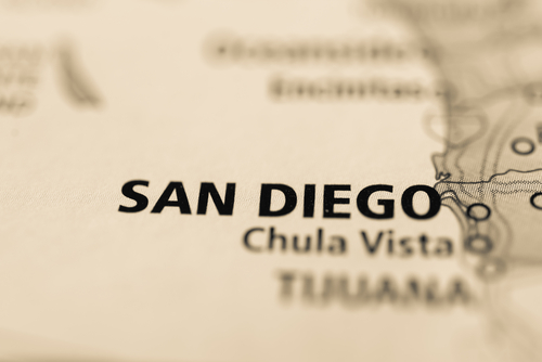 map showing san diego