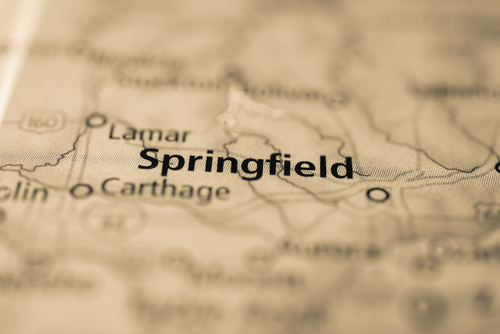 map showing greater springfield