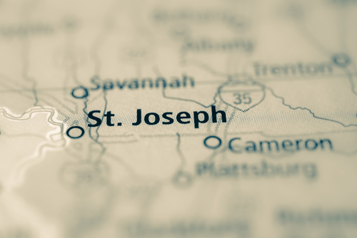 map showing st. joseph