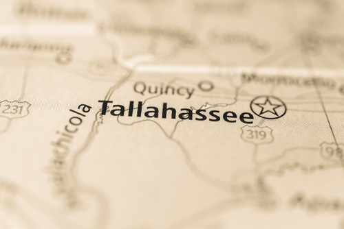 map showing tallahassee