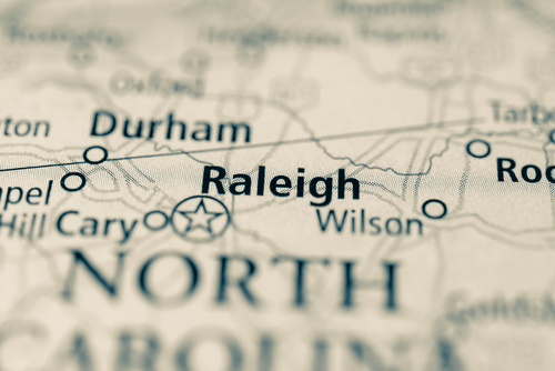 map showing raleigh
