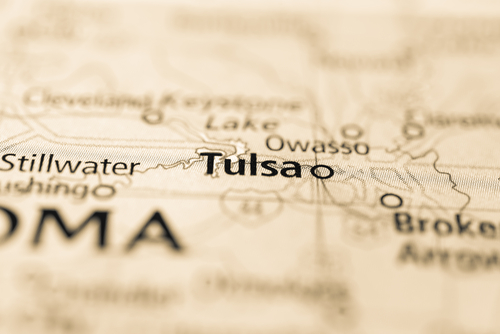map showing tulsa