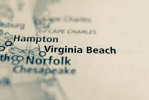 map showing virginia beach