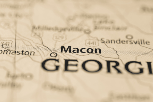 map showing Macon
